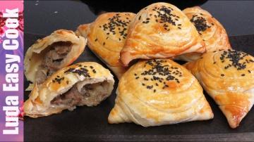 Позитивная Кухня САМСА СЛОЕНАЯ  ДОМАШНЯЯ С МЯСОМ В ДУХОВКЕ просто ОБЪЕДЕНИЕ | Uzbek Samsa recipe