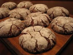 Шоколадное печенье с кракелюрами |Рецепт