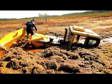 Тракторы бульдозеры по бездорожью Уникальная подборка Гусеничные Тракторы Грязь