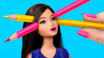Трум Трум Канцелярия из игрушек – 9 идей / Как пронести кукол Барби в школу