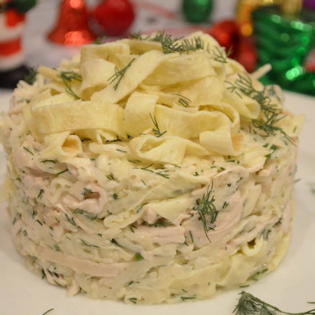 Рецепт Очень вкусного салата с омлетом