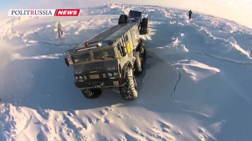 В России создан вездеход-амфибия «Бурлак» для трансарктической экспедиции на Северный полюс