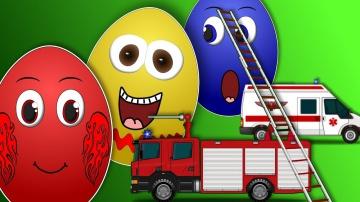 Мультики про машинки и про яйца с сюрпризом Сборник мультфильмов для детей