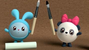 Черное и белое - Малышарики: Умные Песенки - цвета. Обучающие и развивающие мультики для детей