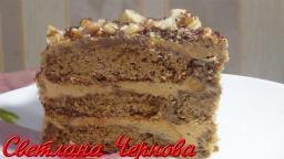 Торт без выпечки из овсяного печенья | Рецепт Светланы Черновой
