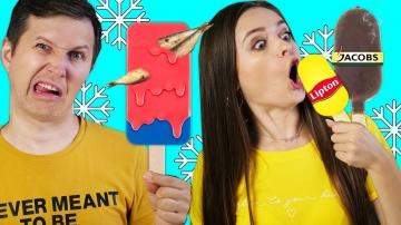 Попробуй не ОТРАВИСЬ 8 безумных видов мороженого Заморозили все что было в доме Эльфинка  Afinka DIY