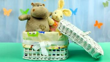 Трум Трум Коробка для игрушек из газетных трубочек своими руками