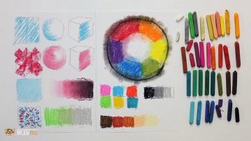 """Курс рисования """"Сухая пастель"""" Начинающие Урок 1-1 Основные техники пастели. Цветовой круг"""