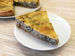 Алена Митрофанова -  Открытый пирог с капустой и грибами на полезном тесте