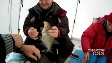 Зимняя рыбалка, ловля леща, февраль 2013