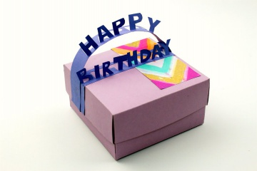 Трум Трум Подарочная коробка из картона на день Рождения своими руками