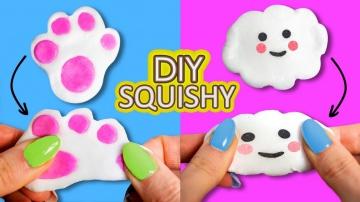 Афинка Diy АНТИСТРЕСС игрушки! СКВИШИ всего из 2 ингредиентов / Squishy СВОИМИ РУКАМИ
