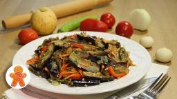 Салат из баклажанов по-корейски | Рецепт