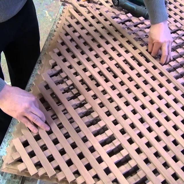 Изготовление деревянной решетки.