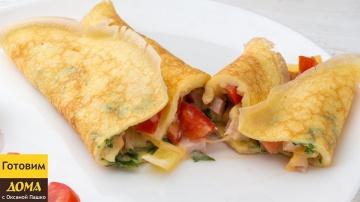 Оксана Пашко -  Безумно вкусный завтрак за 5 минут | РУЛЕТ ИЗ ОМЛЕТА