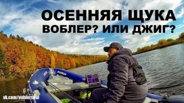 Спиннинг осенью Воблер или джиг Ловля щуки по холодной воде