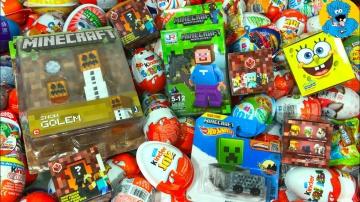 Киндер Сюрпризы, A Lot Of Candy and Kinder Surprise Eggs Майнкрафт,Minecraft,Губка Боб,РИО