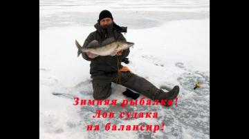 Ловля судака окуня щуки на Волге на балансир Зимняя рыбалка