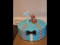 торт для маленького джентельмена / торт на годик / торт с мишкой/ erste Geburtstagstorte