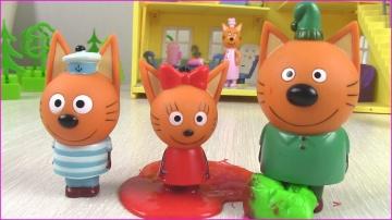 Три кота и БАРБОСКИНЫ Киндер сюрпризы Суперсемейка Три Кота Мультики с игрушками