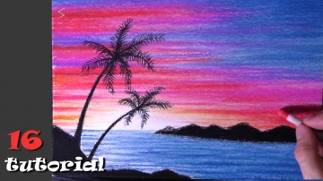Как нарисовать пейзаж пастелью? Простой рисунок для начинающих