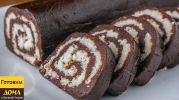 """Оксана Пашко -  Вкуснейшая шоколадная колбаса """"Баунти"""" без выпечки. Нежнейшее кокосовое наслаждение!"""