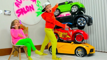 Видео мистера Макса | Макс и Катя играют в машинки