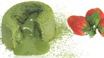 LudaEasyCook Шоколадный #фондан с белым шоколадом и зеленым чаем #Матча  #LudaEasyCook bánh matcha l