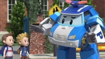 Робокар Поли - мультики про машинки - Правила дорожного движения - Две стороны дороги в школу