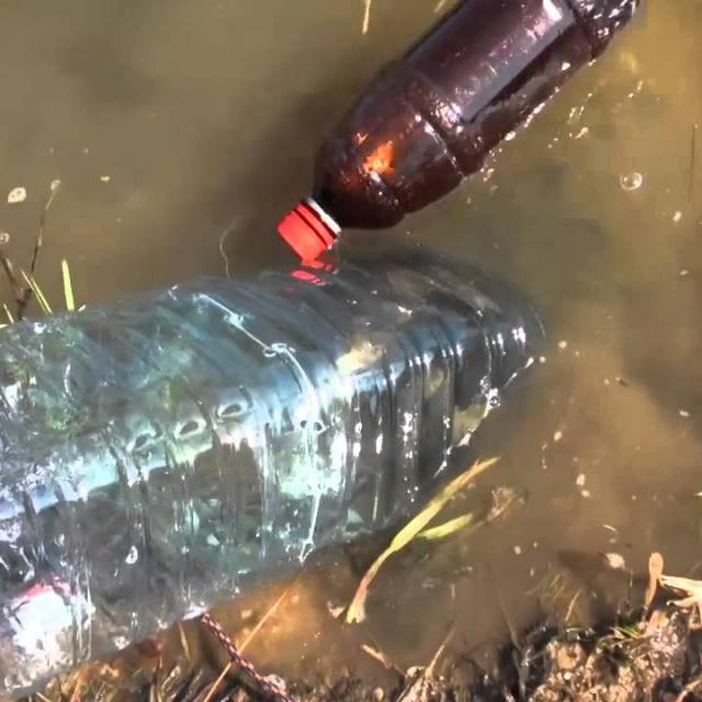 Рыбалка без удочки на бутылку