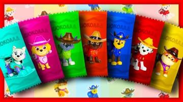Мультики. Учим цвета. Щенячий Патруль. Шоколадки для детей. Learn Colors. Chocolates. PAW Patrol