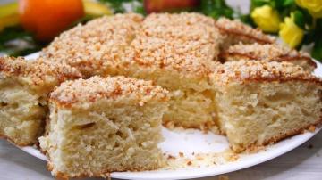 Быстрый пирог на молоке за 6 минут время на выпечку | Рецепт Калнина Наталья