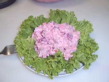 Салат из сельди со свеклой Heringssalat mit Roter Bete Маринкины Творинки