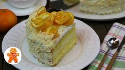 Ирина Хлебникова -  Апельсиновый торт - Бисквитный пирог очень вкусный и простой рецепт