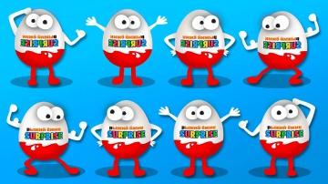 Сборник для Детей Распаковка Шоколадных Сюрпризов Мультик песенка про Синий Трактор