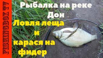 Рыбалка на реке Дон 19.08.2017 Ловля леща и карася на фидер
