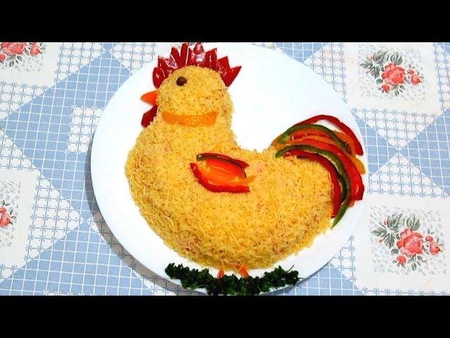 Рецепт Салата Петушок на праздничный стол