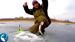 Щука на жерлицы на карьере. Закрытие сезона. Последний лед. Готовим на природе.   Рыбалка с Родионом