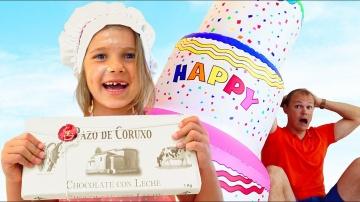 Катя перепутала день рождения папы / Катя и Макс на День Рождении у папы