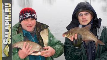 Отличная рыбалка леща на фидер зимой salapin ru