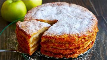 """Яблочный Пирог """"ТРИ СТАКАНА""""   Рецепт Ольги Матвей Изумительно Вкусный"""