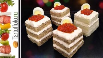 Закусочные Мини-Тортики бутерброды к Новому году