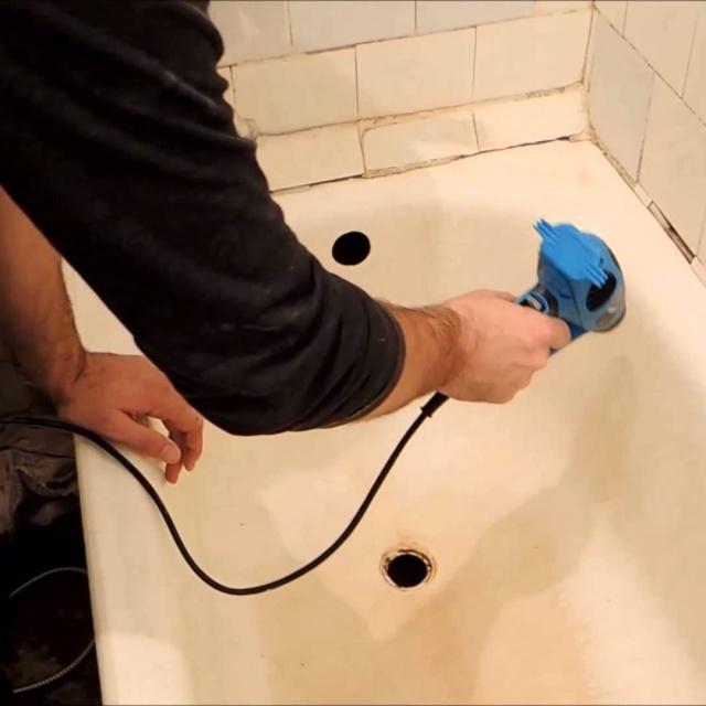 Реставрация ванны жидким акрилом своими руками.