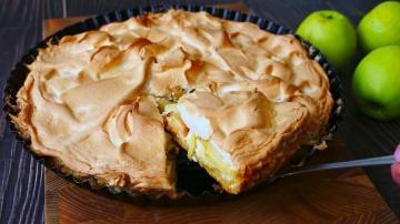 Яблочный Пирог на Творожной Подушке   Рецепт Ольги Матвей