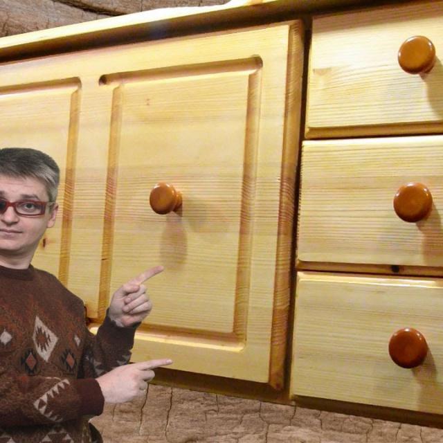 Секретер (шкаф-стол) из дерева своими руками.