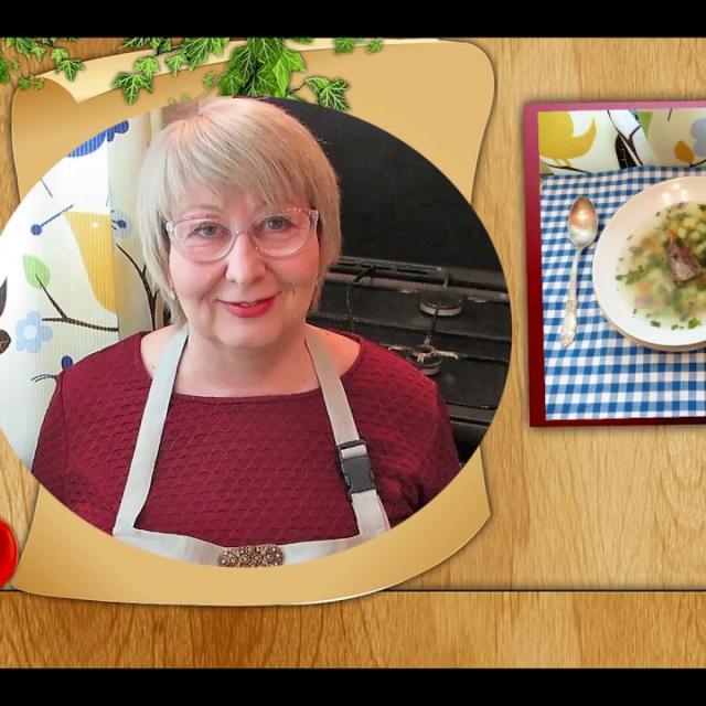 Вкусный суп из говядины с картошкой, пшеном и зеленью