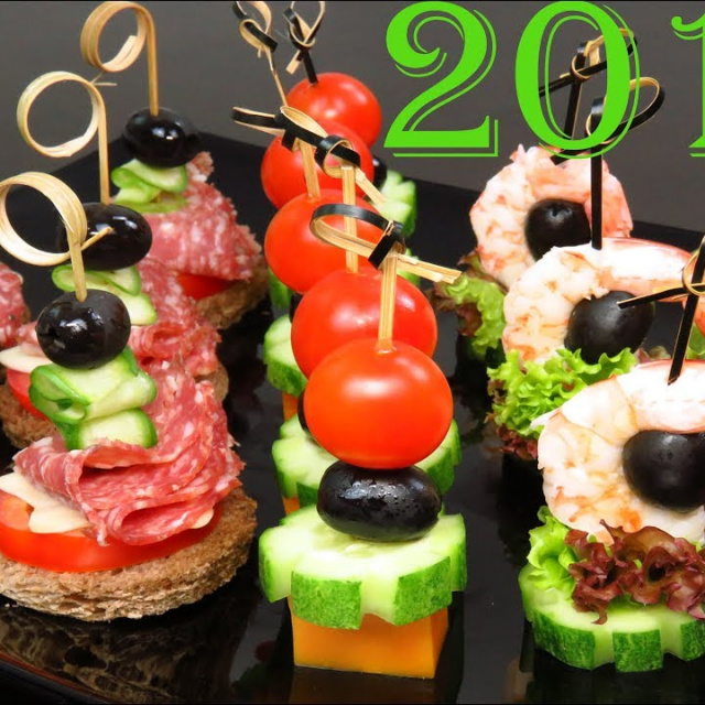 Быстрые Закуски к Новогоднему столу Закуски КАНАПЕ | Люда Изи Кук Позитивная Кухня