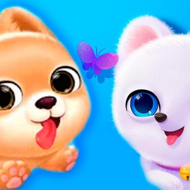 Игровой мультик про милую собачку. Симулятор маленького песика. Игра для детей про животных