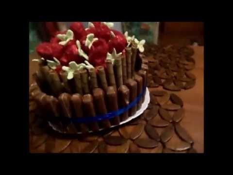 Клубничный торт для любимых мужчин