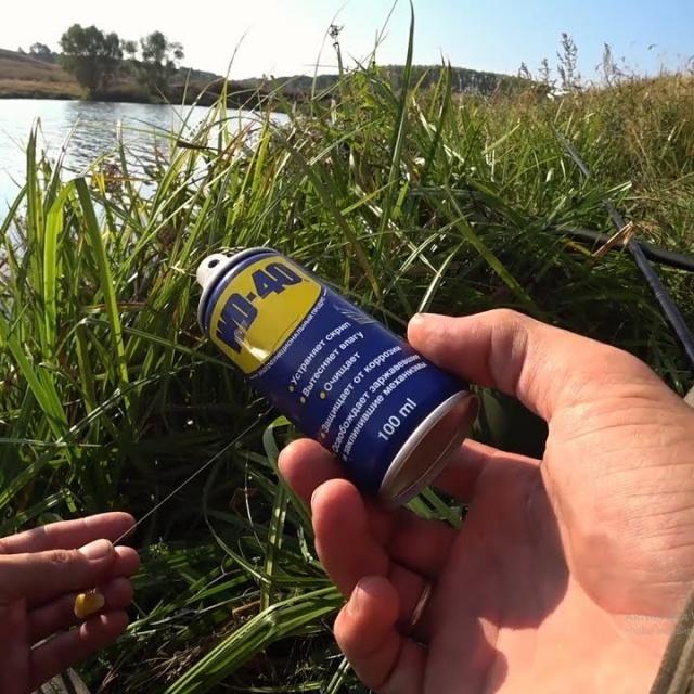 Ловля на WD 40. Чуть не утащил удочку. Реакция рыбы на WD 40. Рыбалка на поплавок.